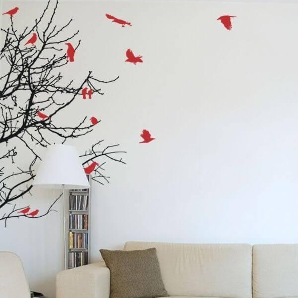 Decorative Sticker with Birds