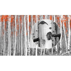 Wall mural red trees
