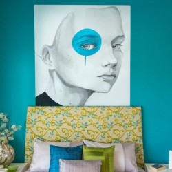 Wall Mural Girl with a Blue Eye
