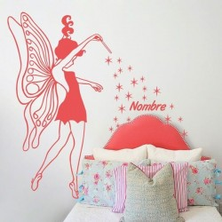 Fairy with stars kids sticker