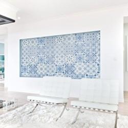 Blue portuguese tile sticker