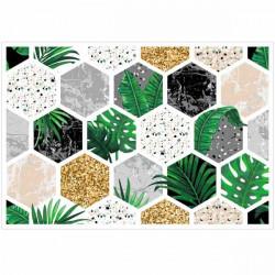 Tropical vinyl carpet