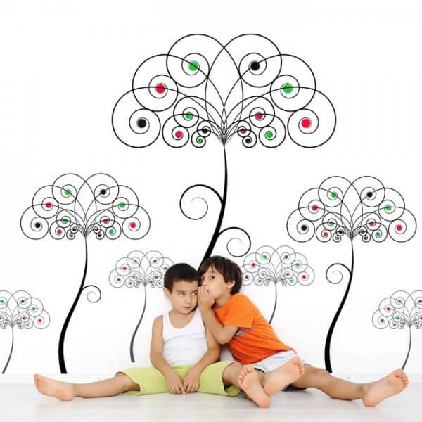 Wall Sticker Color Trees
